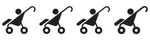 4 strollers: The hike can easily be done with a standard stroller.