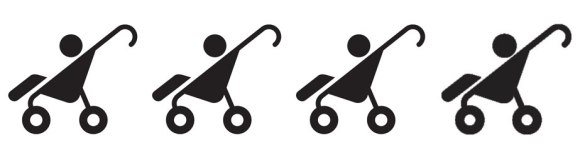 4 strollers: The hike can easily be done with standard stroller.